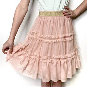 MINI BODEN Dusty Pink Tulle Twirl Skirt NWT 9-10Y
